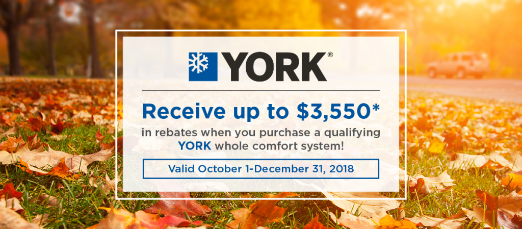 YORK fall promotion